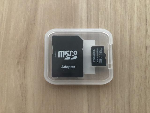 予備のmicroSDカード